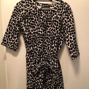 Kate Spade Belted animal print dress